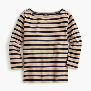 J Crew Structured Boatneck T Shirt Size XXS